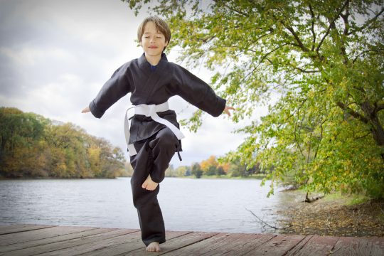 white belt student, monument karate, monument co